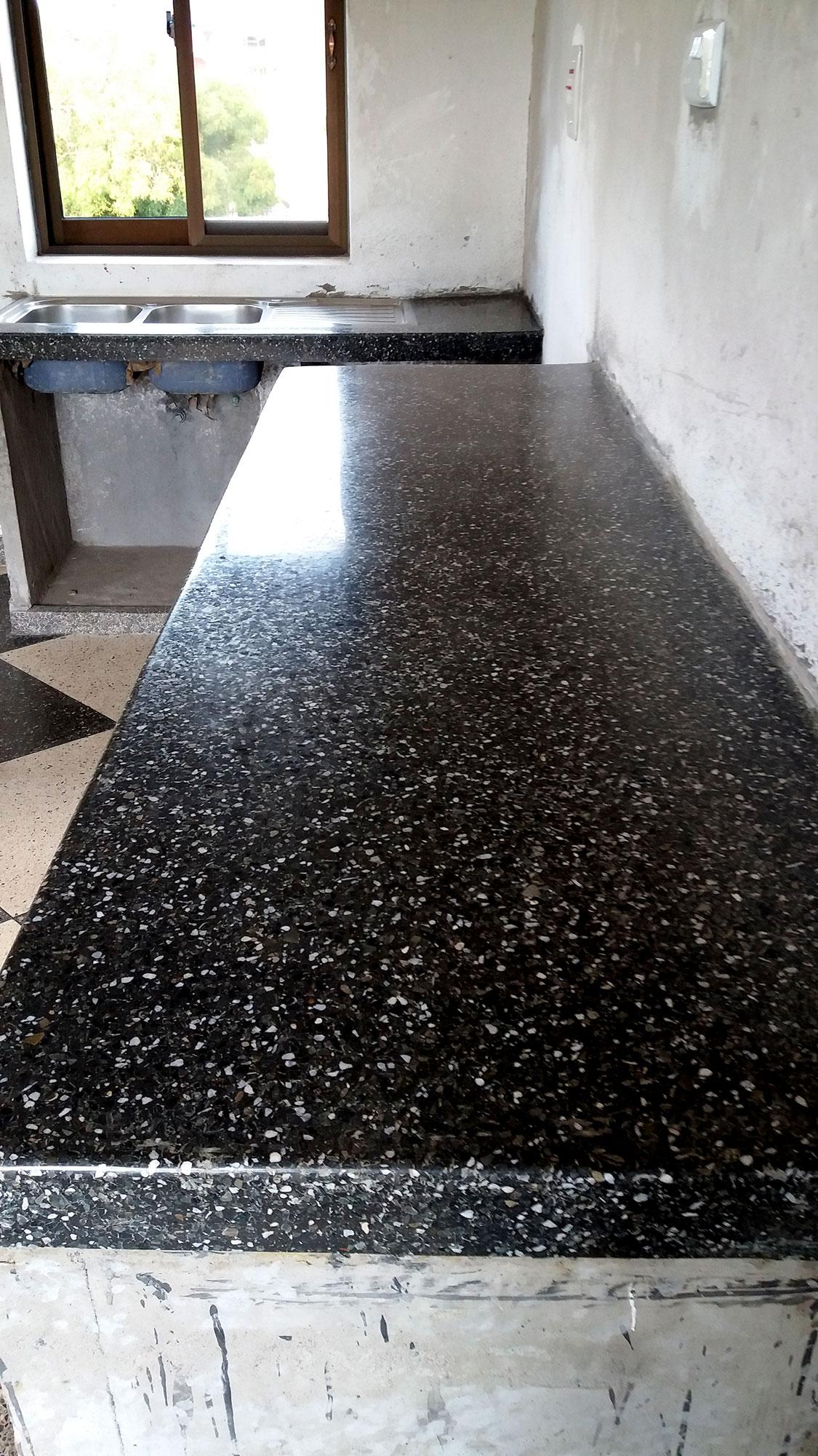 Terrazzo floors flooring solutions uganda concrete wood stone our terrazzo work at dukes garage in naalya kampala dailygadgetfo Gallery