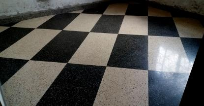 Our terrazzo work at Duke's Garage in Naalya, Kampala