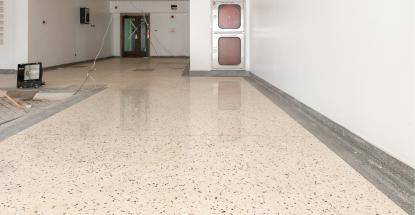 Our terrazzo work inside the Imperial Mall & Apartments in Entebbe