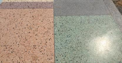 Our prepared terrazzo samples